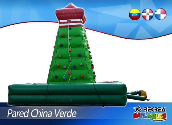 PARED PIRAMIDE CHINA DE ESCALAR VERDE