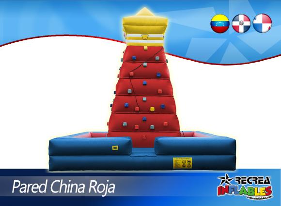 PARED PIRAMIDE CHINA DE ESCALAR ROJA