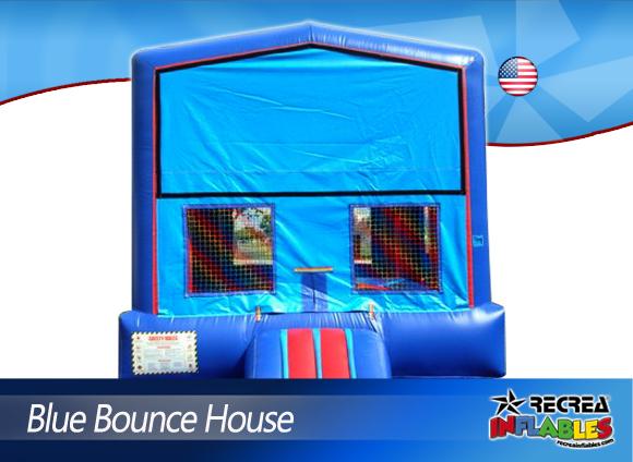BLUE BOUNCE HOUSE